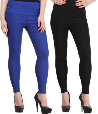 Atharv Collections Women's Blue, Black Jeggings