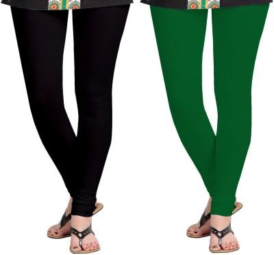 ZACHARIAS Women's Black, Green Leggings
