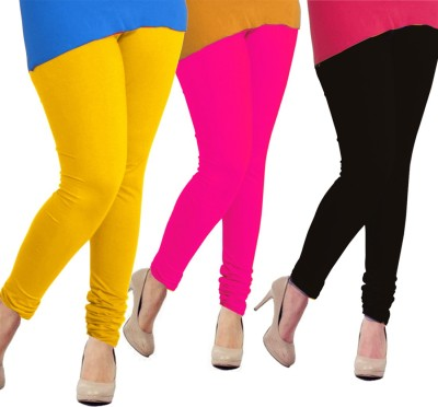 Tyra Women's Yellow, Pink, Black Leggings