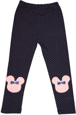 Habooz Girl's Dark Blue, Pink Leggings