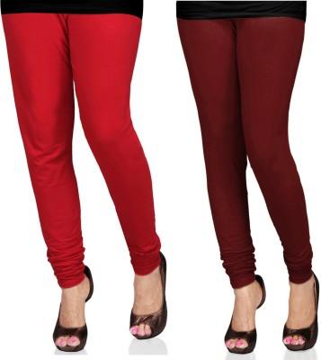 SareeGalaxy Women's Red, Maroon Leggings