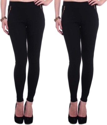 Dimpy Garments Women,s Black, Black Jeggings