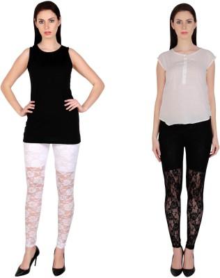 Simrit Women's White, Black Leggings