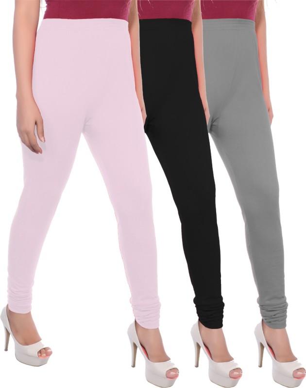 Apple Knitt Wear Women's Maternity Wear Pink, Black, Grey Leggings(Pack of 3)