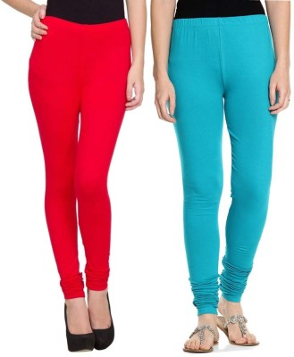 Sampoorna Collection Women's Red, Blue Leggings
