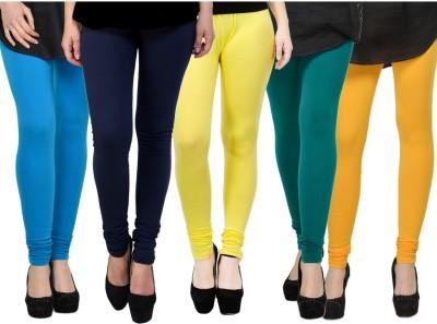 Kjaggs Women's Blue, Blue, Yellow, Green, Yellow Leggings