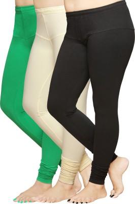 Pomelo Women's Black, White, Green Leggings