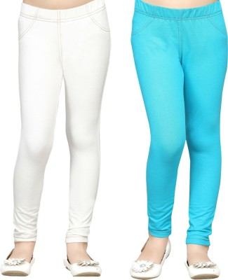Greenwich Girl,s White Jeggings