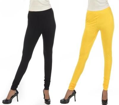 Crezyonline Women's Yellow, Black Leggings