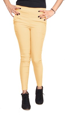 Ally The Creations Women's Beige Jeggings