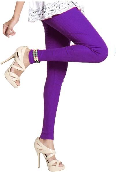 Notyet By Us Womens Purple Leggings