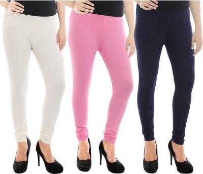Paulzi Women's White, Pink, Blue Leggings
