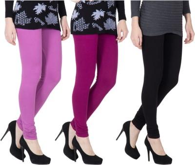 VERMELLO Women's Purple, Purple, Black Leggings