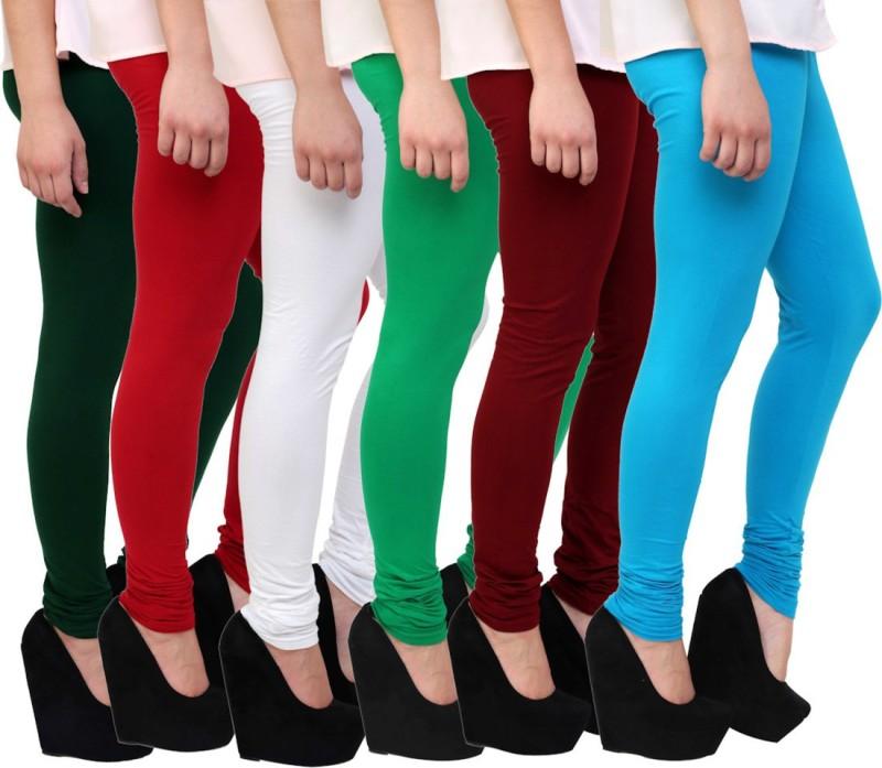 Himgiri Women's Multicolor Leggings(Pack of 6)