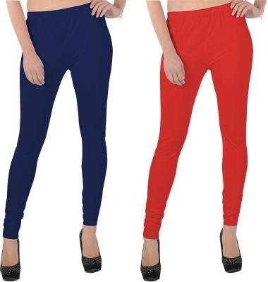 X-Cross Women's Dark Blue, Red Leggings