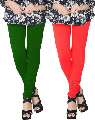JV Wears Women's Green, Red Leggings