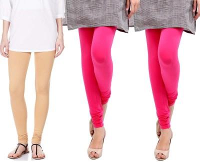Sampoorna Collection Women's Beige, Pink, Pink Leggings