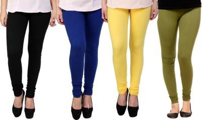 Dharamanjali Women's Black, Blue, Yellow, Dark Green Leggings