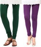 Fbling Women's Green, Purple Leggings (P...
