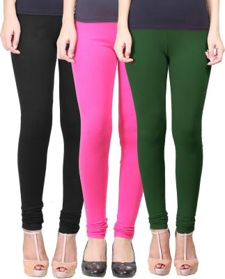 Eshelle Women's Black, Maroon, Dark Green Leggings