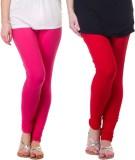 Famaya Gold Women's Pink, Red Leggings (...
