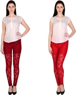 Simrit Women's Maroon, Red Leggings
