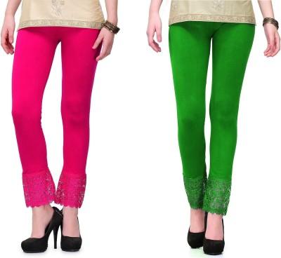 RobinRomeo Women's Pink, Green Leggings