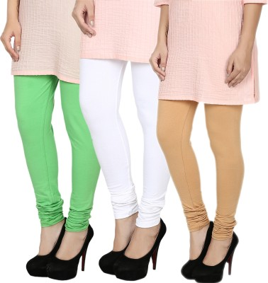 Fizzaro Women's Green, White, Beige Leggings