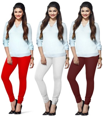 Roshni Creations Women's Red, White, Maroon Leggings
