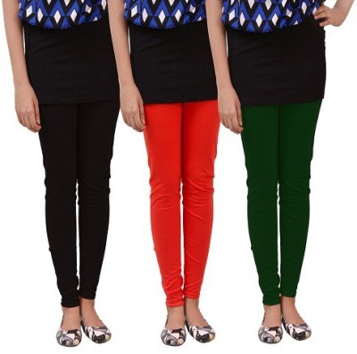 carrol Women's Black, Red, Green Leggings