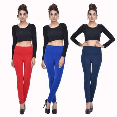 Both11 Women's Red, Blue, Blue Leggings