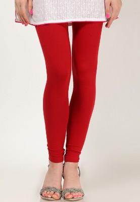 WhitePetals Women's Red Leggings