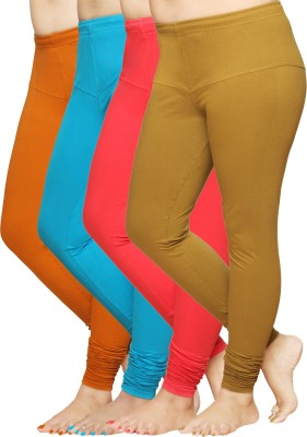 Pomelo Women's Brown, Red, Green, Yellow Leggings