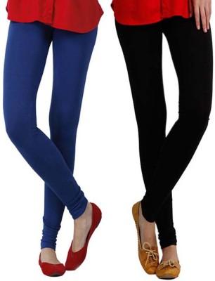 StyleJunction Women,s Black, Blue Leggings