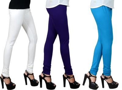 JSA Women's White, Blue, Light Blue Leggings