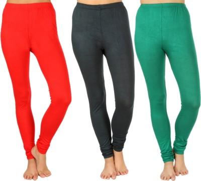 SLS Women's Red, Dark Green, Green Leggings