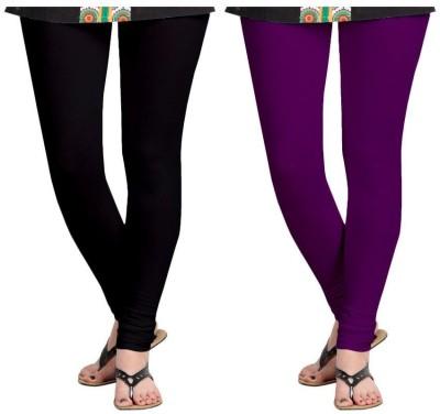 Roshni Creations Women's Black, Purple Leggings
