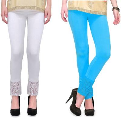 RobinRomeo Women's Blue, White Leggings