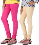 Aaradhyaa Women's Beige, Pink Leggings (...