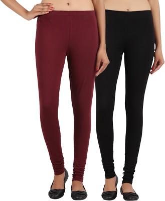 Sewn Women's Brown, Black Leggings