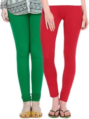 Legemat Girl,s Green, Red Leggings