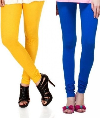 Zadine Women's Orange, Dark Blue Leggings