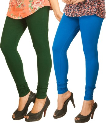 Berries Women's Dark Green, Blue Leggings