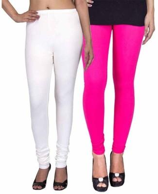 Ayesha Fashion Women's White, Pink Leggings