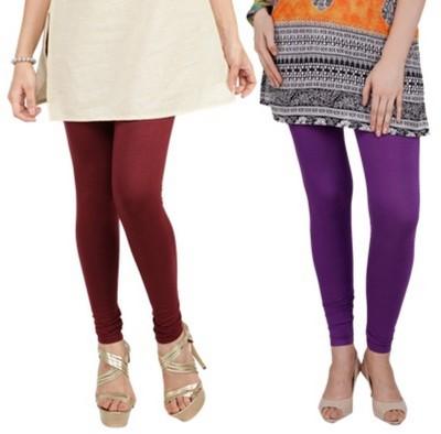 Bembee Women's Maroon, Purple Leggings
