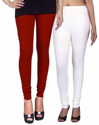 Ayesha Fashion Women's Maroon, White Leggings