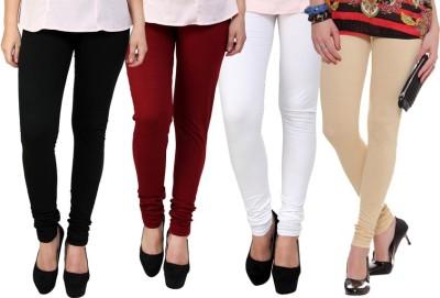 Dharamanjali Women's Black, Maroon, Beige, White Leggings