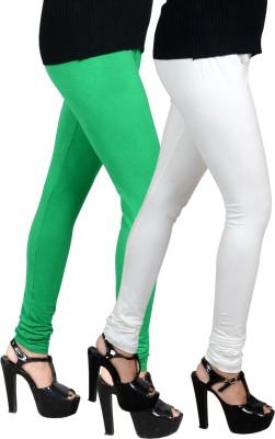 JSA Women's Green, White Leggings