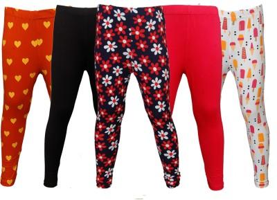 Little Stars Legging For Girls(Multicolor Pack of 5)