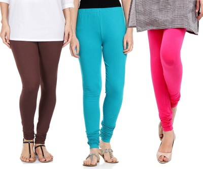 Sampoorna Collection Women's Brown, Blue, Pink Leggings